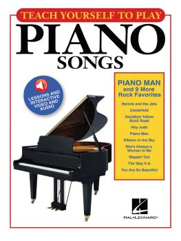 Teach Yourself to Play Piano Songs: Piano Man & 9 More Rock Favorites (HL-00150161)