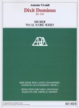 Dixit Dominus RV 594: Ricordi Vocal Score Series (HL-50600496)