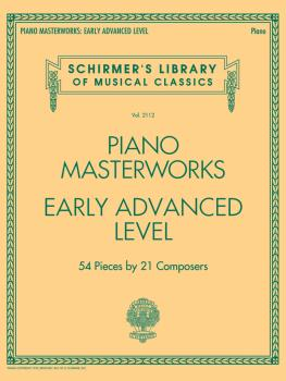 Piano Masterworks - Early Advanced Level: Schirmer's Library of Musica (HL-50600036)