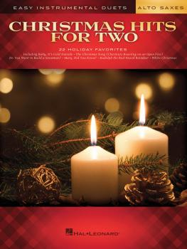 Christmas Hits for Two Alto Saxes: Easy Instrumental Duets (HL-00172463)