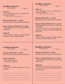 1st Semester Class Lesson Sheets (HL-00645941)