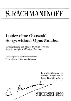 Songs Without Opus Number (Lieder ohne Opuszahl) (HL-50600439)