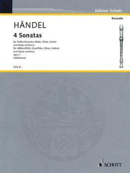 4 Sonatas: Op. 1 Complete (for Treble Recorder and B.C.) (HL-49011340)