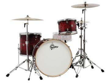 Gretsch Catalina Club 3 Piece Shell Pack (24/13/16) (Gloss Crimson Bur (HL-00775202)