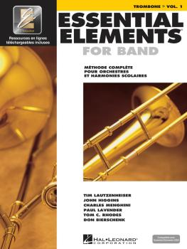Essential Elements for Band avec EEi: Vol. 1 - Trombone Bass Clef (HL-00860214)