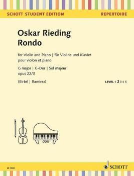 Rondo G Major, Op. 22 No 3 (for Violin and Piano Schott Student Editio (HL-49045444)