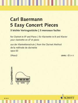 5 Easy Concert Pieces, Op. 63: Clarinet in B-flat and Piano Level 2 Sc (HL-49045506)