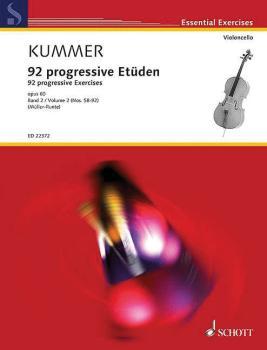 92 Progressive Exercises, Op. 60 - Book 2 (for Cello Schott Essential  (HL-49045621)