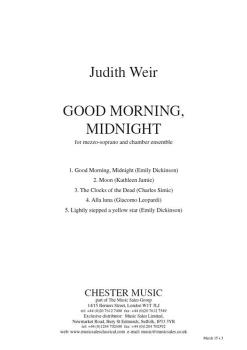Good Morning, Midnight (Vocal Score) (HL-14043811)
