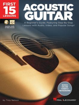 First 15 Lessons - Acoustic Guitar: A Beginner's Guide, Featuring Step (HL-00244588)