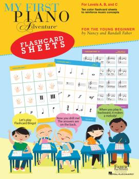 My First Piano Adventure® Flashcard Sheets (For the Young Beginner) (HL-00275425)