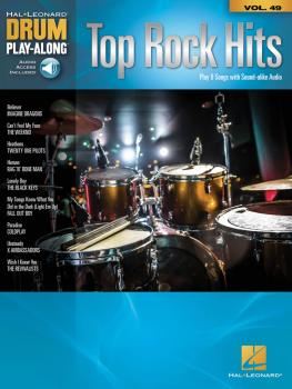 Top Rock Hits: Drum Play-Along Volume 49 (HL-00256655)