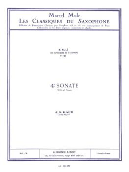 4th Sonata: Saxophone Classics No. 91 Alto Saxophone and Piano (HL-48181366)