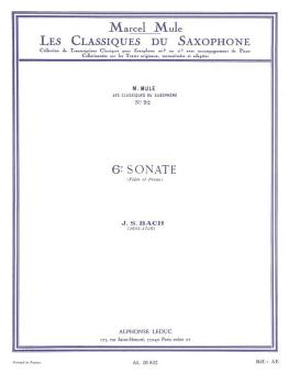 6th Sonata: Saxophone Classics No. 92 Alto Saxophone and Piano (HL-48181367)