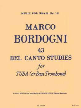 43 Bel Canto Studies for Tuba or Bass Trombone: Music for Brass No. 28 (HL-48185242)