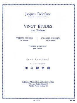 Vingt Études pour Timbales: [Twenty Studies for Timpani] (HL-48182579)