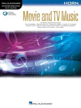 Movie and TV Music for Horn: Instrumental Play-Along® Series (HL-00261812)