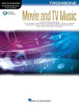 Movie and TV Music for Trombone: Instrumental Play-Along® Series (HL-00261813)