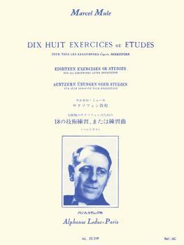 Dix Huit Exercices ou Etudes Pour Tous les Saxophones d'apres Berbigui (HL-48181077)