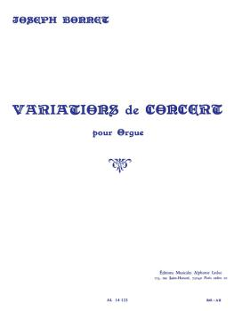 Variations de Concert pour Orgue: [Concert Variations for Organ] (HL-48180057)