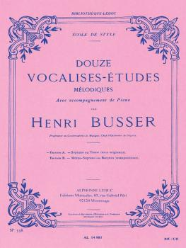 Douze Vocalises-Etudes - Edition A (for Soprano or Tenor) (HL-48180083)