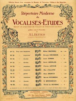 Répertoire Moderne de Vocalises-Etudes (No. 26) (HL-48180100)