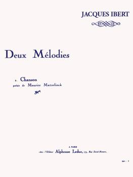 Deux Mélodies - Chanson (for Voice and Piano) (HL-48180164)