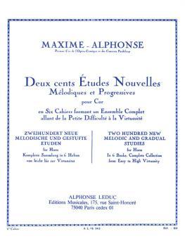 Deux Cents Etudes Nouvelles Melodiques Et Progressives: [Two Hundred N (HL-48180187)