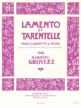 Lamento et Tarentelle (for Clarinet and Piano) (HL-48180204)