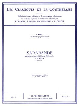 Sarabande - Classiques No. 3 (for Double Bass and Piano) (HL-48180216)