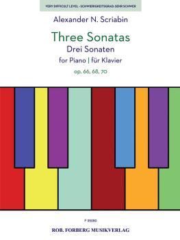 Three Sonatas for Piano (Op. 66, 68, 70) (HL-50601422)