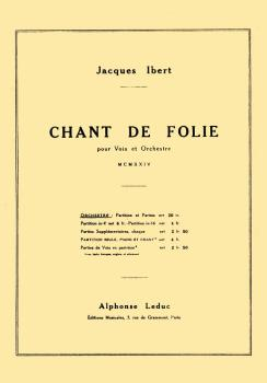 Chant de Folie: Choral Mixed Accompanied (HL-48180253)