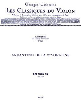 Andantino de la 1ere - Classiques No. 321 (for Violin and Piano) (HL-48180262)