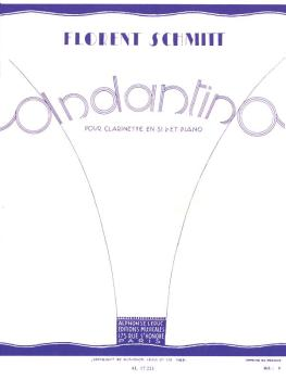 Andantino - Op. 30, No. 1 (for Clarinet and Piano) (HL-48180299)
