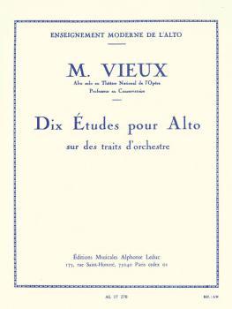 Dix Etudes pour Alto: [10 Studies for Viola] (HL-48180306)