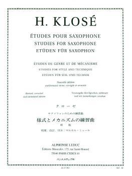 Etudes pour Saxophone: [Studies for Saxophone] (HL-48180321)