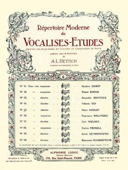 Vocalise-Etude pour Voix Elevees (for High Voice and Piano) (HL-48180331)