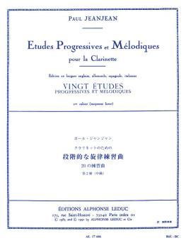 Vingt Etudes Progressives et Melodiques - Volume 2 (for Clarinet) (HL-48180335)