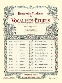 Vocalise-Etude pour Voix Moyennes (for Medium Voice and Piano) (HL-48180346)