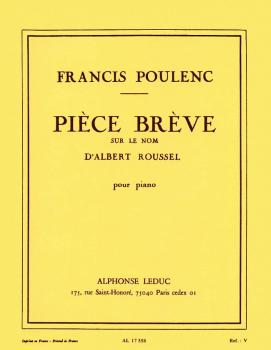 Piece Breve Sur Le Nom d'Albert Roussel (for Piano Solo) (HL-48180355)