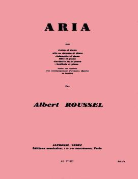 Aria pour Hautbois et Piano (for Oboe and Piano) (HL-48180472)