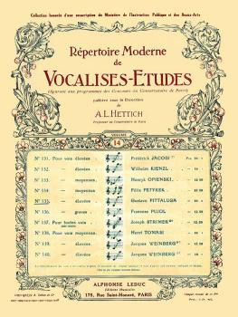 Vocalises-Etudes - No. 135 (for High Voice and Piano) (HL-48180484)