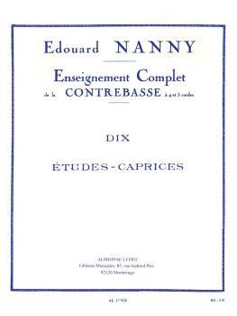 Dix Etudes-Caprices pour Contrebasse (for Double Bass) (HL-48180488)