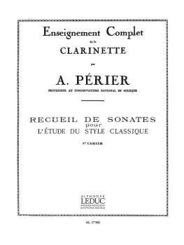 Recueil De Sonates - Volume 1 (for Clarinet) (HL-48180501)
