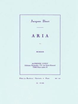 Aria for Flute (or Oboe), Clarinet and Piano (HL-48180527)