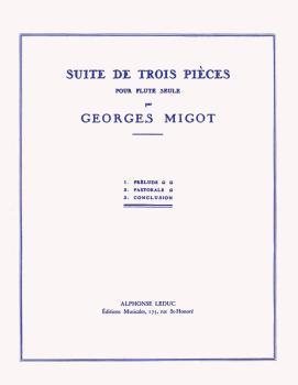 Suite de Trois Pieces pour Flute Seule: [Suite in 3 Pieces for Flute S (HL-48180529)