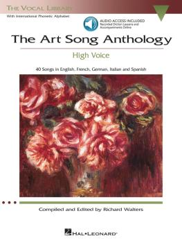 The Art Song Anthology - High Voice (With online audio of Recorded Dic (HL-00230033)
