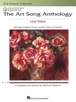 The Art Song Anthology - Low Voice (With online audio of Recorded Dict (HL-00230034)