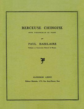 Berceuse Chinoise Op. 115 (for Cello and Piano) (HL-48180857)