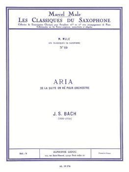Aria - Classiques No. 19 (for Alto Saxophone and Piano) (HL-48180877)